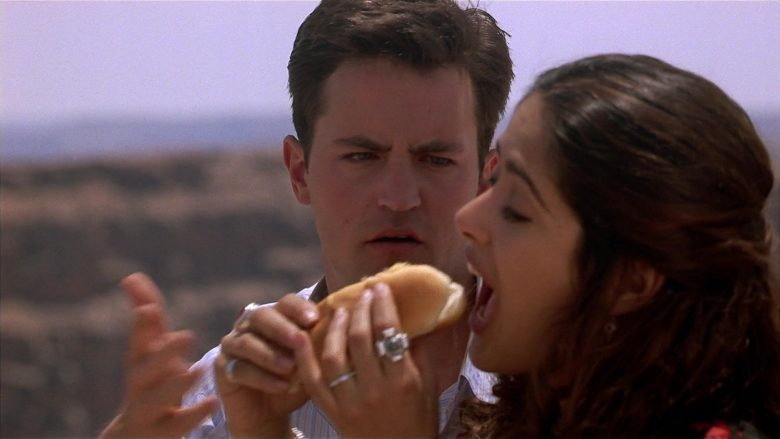 Gray's Papaya Hot Dogs Enjoyed by Matthew Perry & Salma Hayek in Fools Rush In (1997) - Movie Product Placement