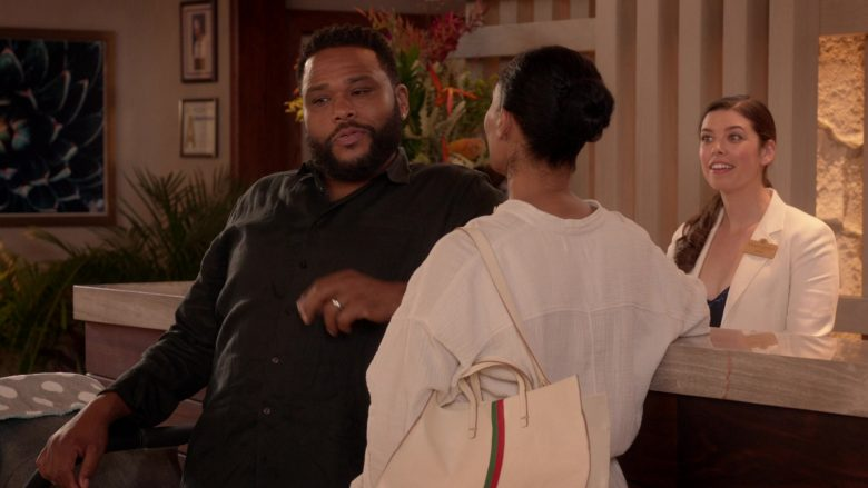 Gucci Bag Used by Tracee Ellis Ross as Bow in Black-ish Season 6 Episode 13 Kid Life Crisis (2020)