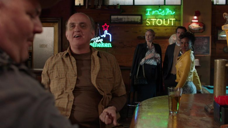 Heineken Beer Sign in Shameless Season 10 Episode 10 Now Leaving Illinois