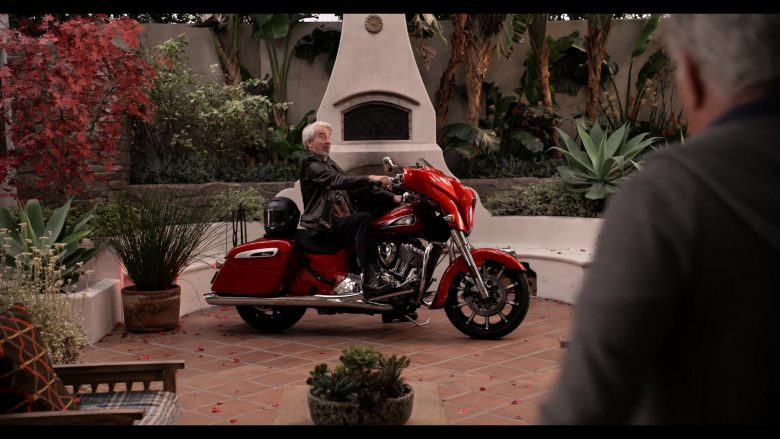 """Indian Motorcycle in Grace and Frankie Season 6 Episode 13 """"The Change"""" (2020) TV Show"""
