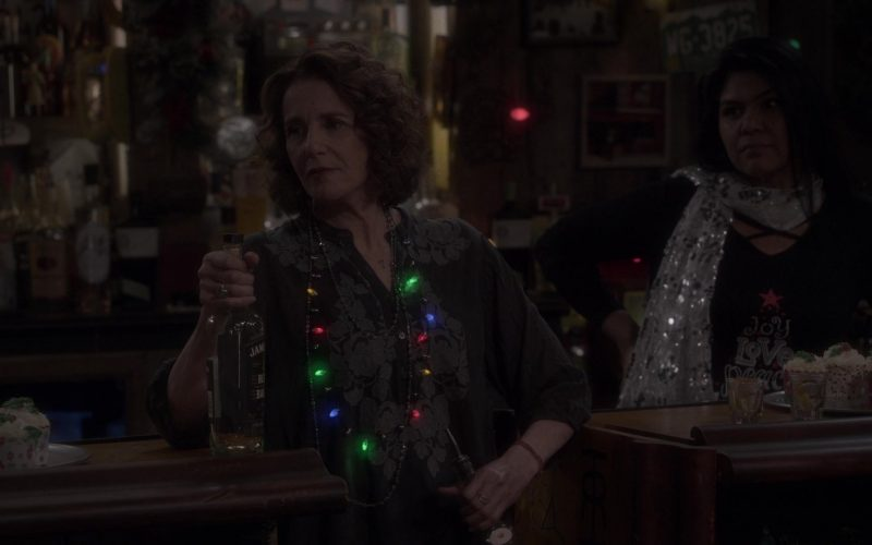 Jameson Black Barrel Irish Whiskey Bottle Held by Debra Winger as Maggie Bennett in The Ranch Season 4 Episode 20 (2020)