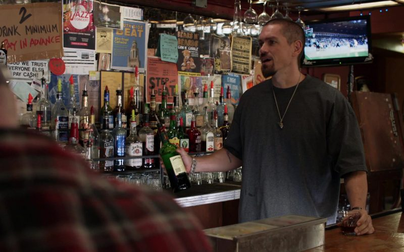 Jameson Irish Whiskey Bottle Held by Steve Howey as Kevin 'Kev' Ball in Shameless Season 10 Episode 11 Location, Location, Location (2020)