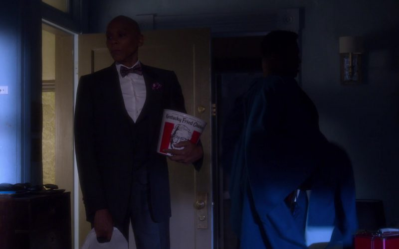 KFC Bucket Held by RuPaul Andre Charles as Ruby Red in AJ and the Queen Season 1 Episode 1 New York City