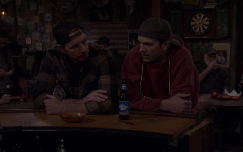 Keystone Light Beer Enjoyed by Ashton Kutcher as Colt Reagan Bennett in The Ranch Season 4 Episode 18 (2020)