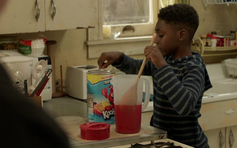 Kool-Aid Drink Enjoyed by Christian Isaiah as Liam Gallagher in Shameless Season 10 Episode 11 Location, Location, Location (1)