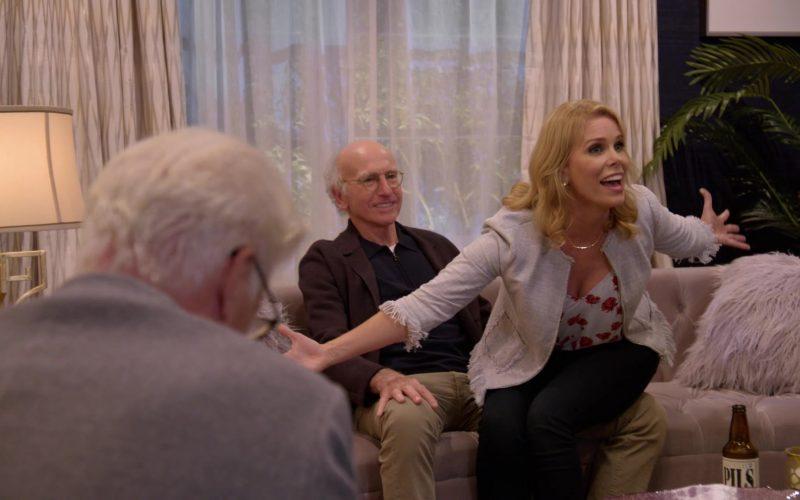 Lagunitas Pils Beer Enjoyed by Cheryl Hines as Cheryl David in Curb Your Enthusiasm Season 10 Episode 1 Happy New Year (2020)