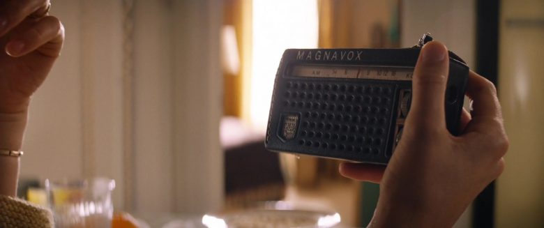 Magnavox Portable Radio Held by Caitriona Balfe as Mollie Miles in Ford v Ferrari (1)