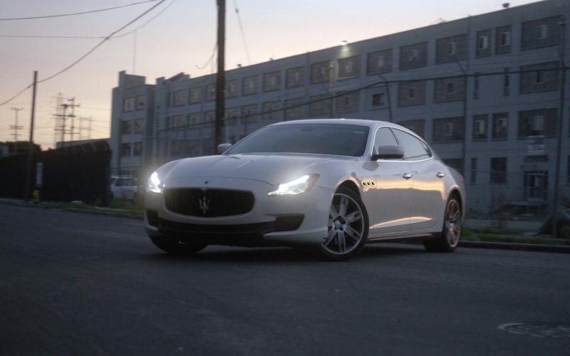 Maserati Quattroporte White Car Driven by Natalia Guslistaya in Acceleration Movie (2)