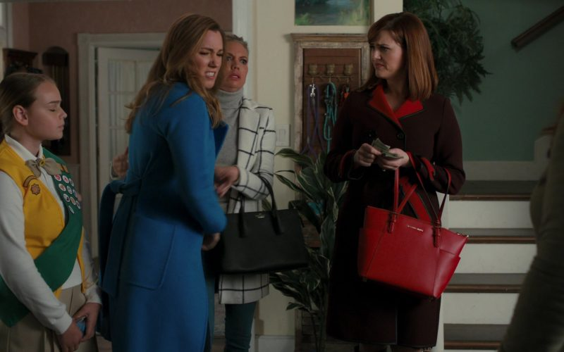 Michael Kors Red Handbag in American Housewife Season 4 Episode 12 (2020)