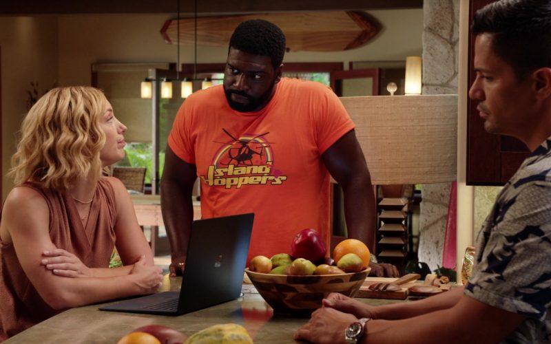 Microsoft Surface Black Laptop Used by Perdita Weeks as Juliet Higgins in Magnum P.I. Season 2 Episode 12 Desperate Measures (3)