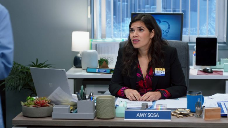 "Microsoft Surface Laptop Used by America Georgine Ferrera as Amelia 'Amy' Sosa in Superstore Season 5 Episode 13 ""Favoritism"" (2020) TV Show"