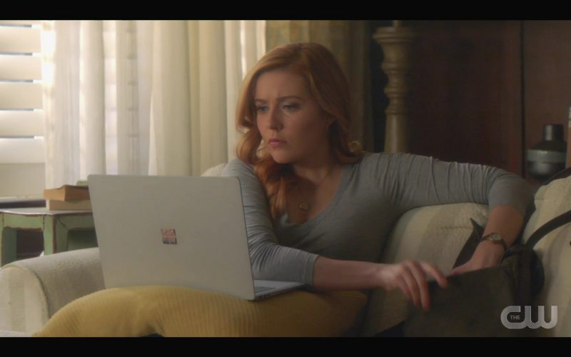 Microsoft Surface Laptop Used by by Kennedy McMann in Nancy Drew Season 1 Episode 10 The Mark of the Poisoner's Pearl 2020