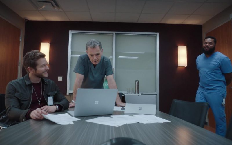 Microsoft Surface Laptop and Tablet in The Resident Season 3 Episode 13 How Conrad Gets His Groove Back (1)