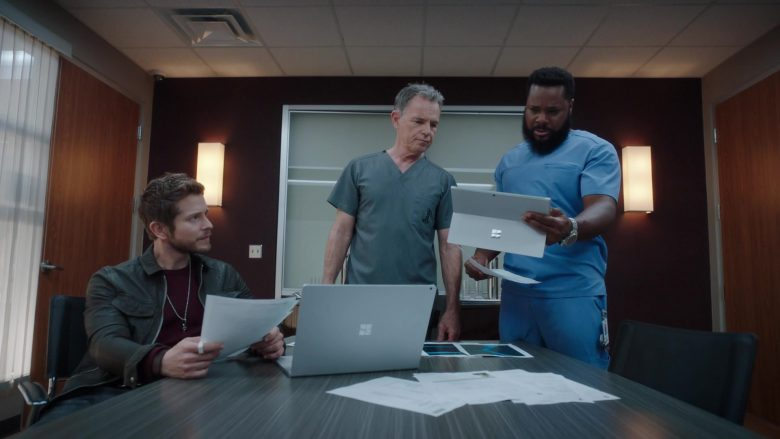 """Microsoft Surface Laptop and Tablet in The Resident Season 3 Episode 13 """"How Conrad Gets His Groove Back"""" (2020) TV Show"""