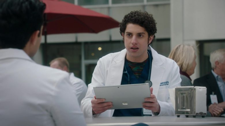 Microsoft Surface Tablet Held by Eli Gelb as Ezra Dreyfuss in The Resident Season 3 Episode 12 Best Laid Plans (1)
