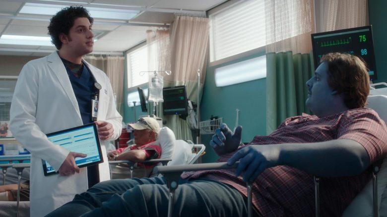 Microsoft Surface Tablet Held by Eli Gelb as Ezra Dreyfuss in The Resident Season 3 Episode 12 Best Laid Plans (2)