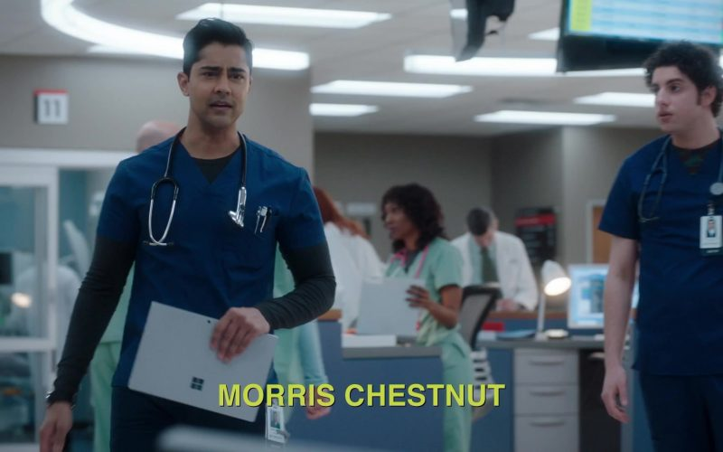 Microsoft Surface Tablet Held by Manish Dayal as Devon Pravesh in The Resident Season 3 Episode 12 Best Laid Plans (1)