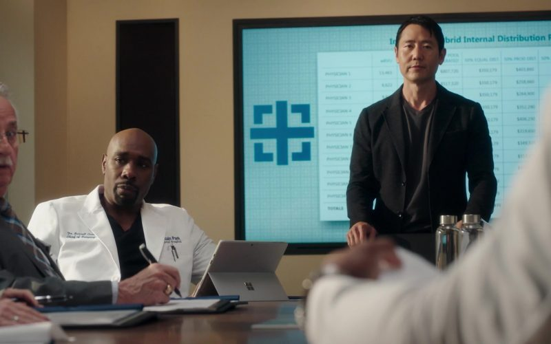 Microsoft Surface Tablet Used by Morris Chestnut as Neurosurgeon Barrett Cain in The Resident Season 3 Episode 11 Free Fall