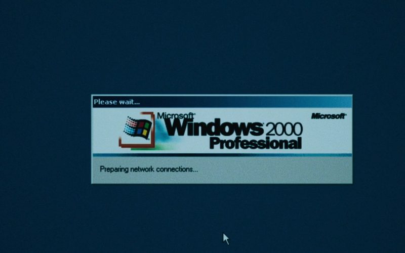 Microsoft Windows 2000 Professional OS in Dark Waters (2019)