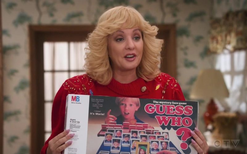 Milton Bradley Guess Who Board Game Held by Wendi McLendon-Covey as Beverly in The Goldbergs Season 7 Episode 12 Game Night (2