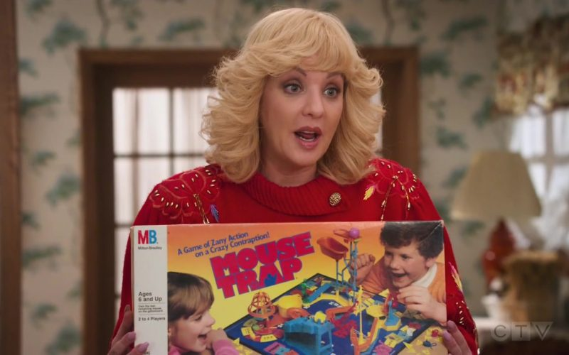 Milton Bradley Mouse Trap Board Game Held by Wendi McLendon-Covey as Beverly in The Goldbergs Season 7 Episode 12 Game Night