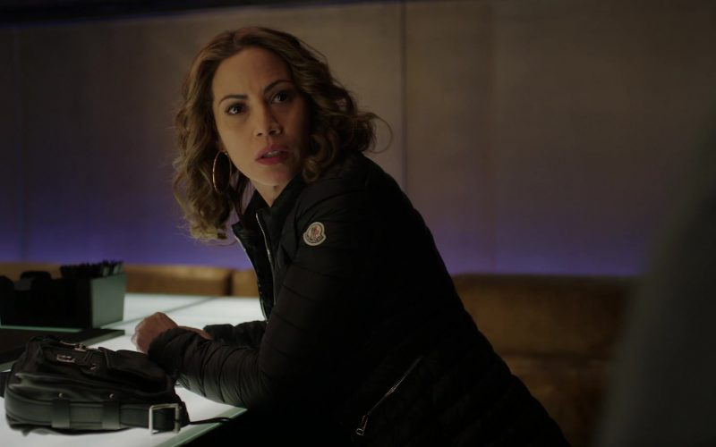Moncler Down Coat Worn by Elizabeth Rodriguez as Paz in Power Season 6 Episode 12 He Always Wins (5)