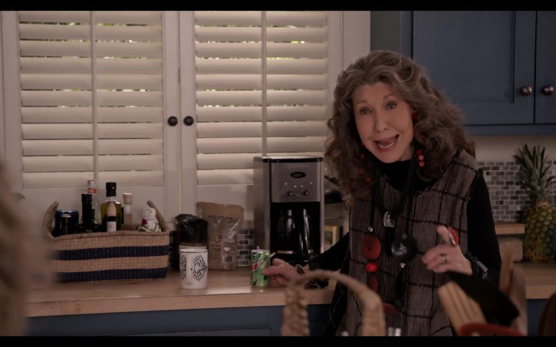 Mountain Dew Soda Enjoyed by Lily Tomlin and Cuisinart Coffee Maker in Grace and Frankie Season 6 Episode 7 The Surprises