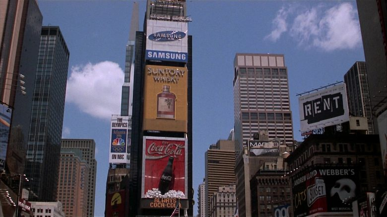 NBC, Samsung, Suntory Whisky, Coca-Cola in Fools Rush In (1997) - Movie Product Placement