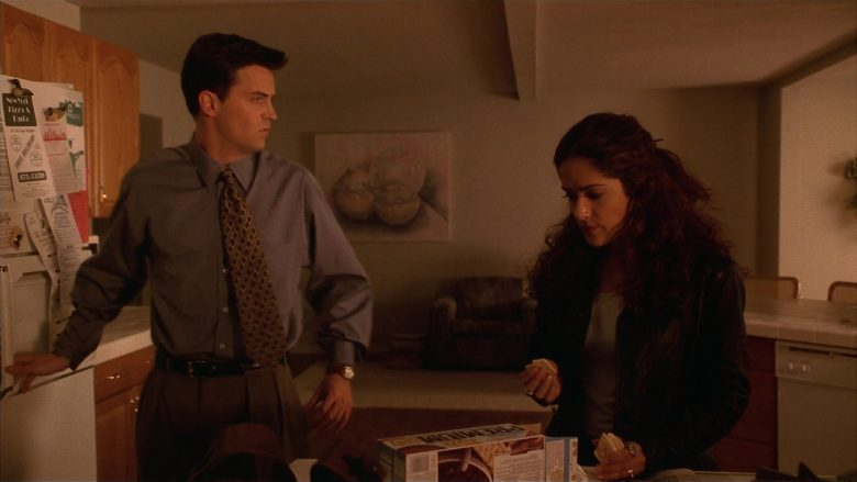 Nabisco Premium Crackers Enjoyed by Salma Hayek as Isabel Fuentes-Whitman in Fools Rush In (1997) - Movie Product Placement