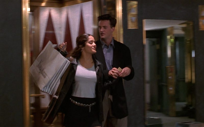 Neiman Marcus Store Paper Bags Held by Salma Hayek as Isabel Fuentes-Whitman in Fools Rush In (1)
