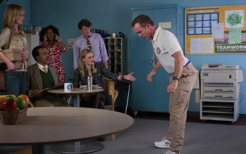 New Balance Men's White Sneakers Worn by Bryan Callen as Coach Rick Mellor in Schooled Season 2 Episode 11 FeMellor (2020)
