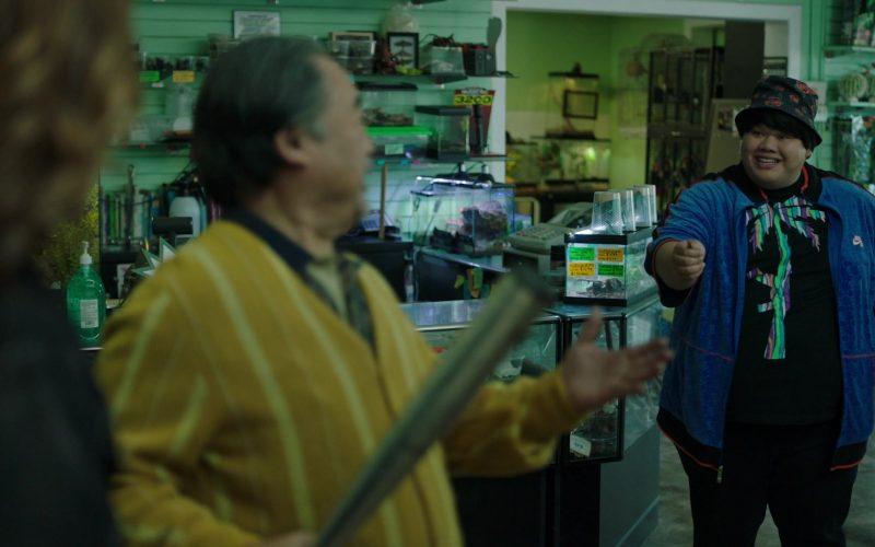 Nike Blue Jacket For Men in Stumptown Season 1 Episode 10 Reality Checks Don't Bounce (2020)