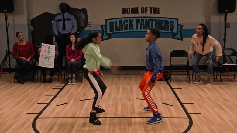 Nike Blue Shoes Worn by Isaiah Russell-Bailey as Shaka McKellan in Family Reunion Season 1 Episode 12 Remember the Dance Battle (1)