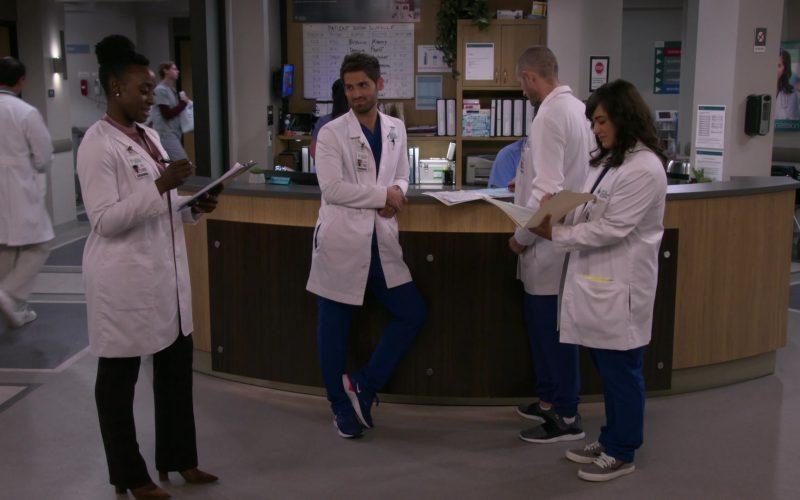 Nike Blue Sneakers Worn by Jean-Luc Bilodeau as Dr. Daniel Kutcher in Carol's Second Act Season 1 Episode 11 Blocking (1)