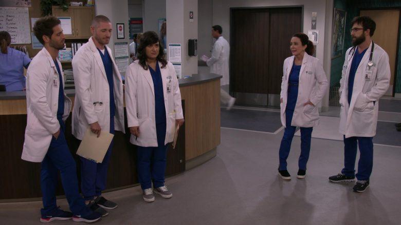 Nike Blue Sneakers Worn by Jean-Luc Bilodeau as Dr. Daniel Kutcher in Carol's Second Act Season 1 Episode 11 Blocking (2)