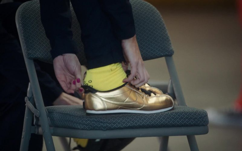 Nike Gold Sneakers For Women in The Resident Season 3 Episode 11 Free Fall