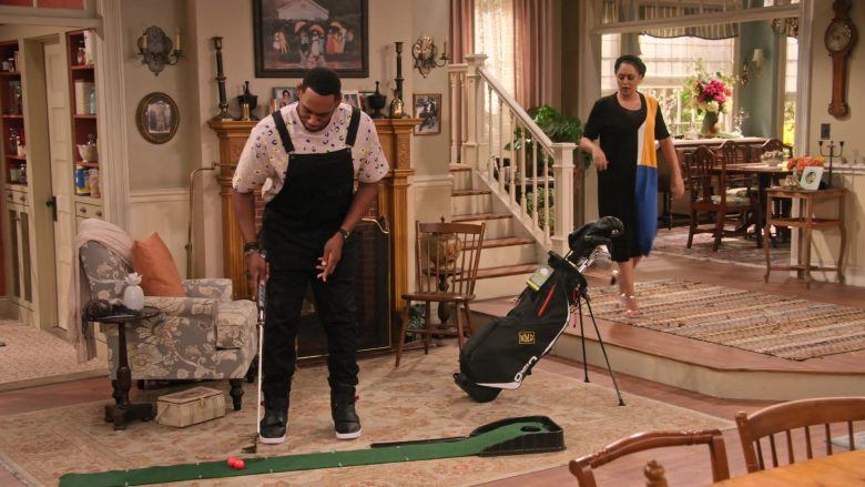 "Nike High Top Sneakers in Black Worn by Anthony Alabi as Moz McKellan in Family Reunion Season 1 Episode 20 ""Remember When the Party Was Over?"" (2020) TV Show"