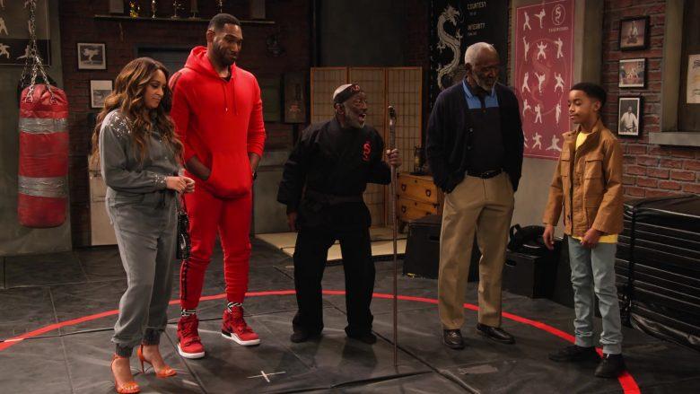 Nike Red Sneakers Worn by Anthony Alabi as Moz McKellan in Family Reunion Season 1 Episode 16 (1)