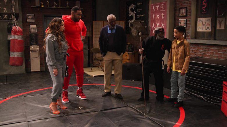 Nike Red Sneakers Worn by Anthony Alabi as Moz McKellan in Family Reunion Season 1 Episode 16 (2)