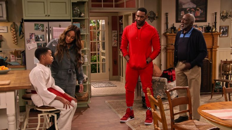 Nike Red Sneakers Worn by Anthony Alabi as Moz McKellan in Family Reunion Season 1 Episode 16 (3)