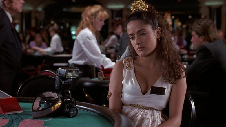 Nikon Camera Used by Salma Hayek as Isabel Fuentes-Whitman in Fools Rush In (1997) - Movie Product Placement