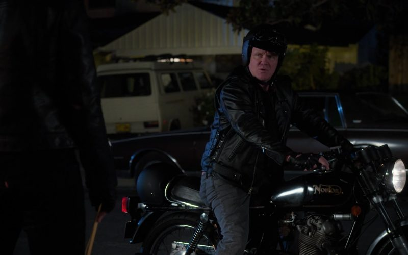 Norton Motorcycle Used by Anthony Michael Hall in The Goldbergs Season 7 Episode 12 Game Night (1)