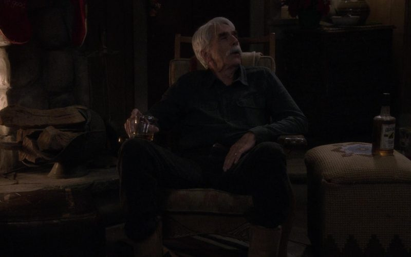 Old Crow Bourbon Whiskey Enjoyed by Sam Elliott as Beau Roosevelt Bennett in The Ranch Season 4 Episode 20 (1)