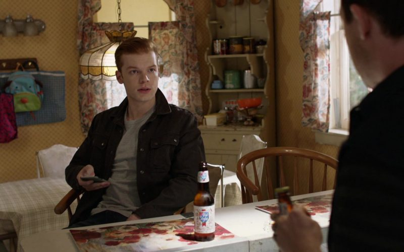 Old Style Beer Enjoyed by Cameron Monaghan as Ian Gallagher in Shameless Season 10 Episode 11 Location, Location, Location