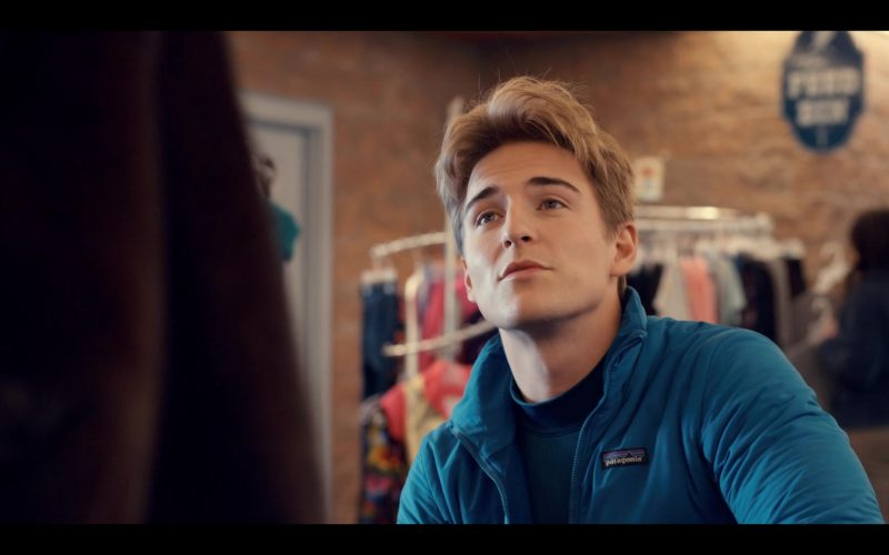 Patagonia Blue Fleece Jacket Worn by Evan Roderick as Justin Davis in Spinning Out Season 1 Episode 3 Proceed with Caution (3)