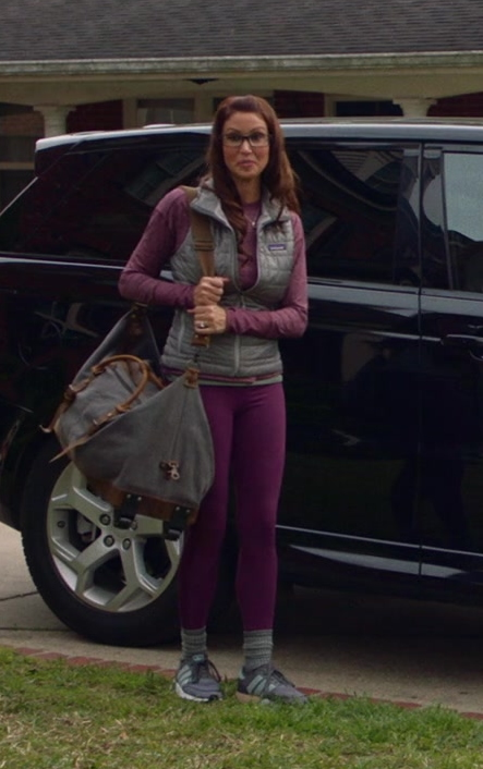 Patagonia Vest and Adidas Sneakers Worn by Shannon Elizabeth in Jay and Silent Bob Reboot