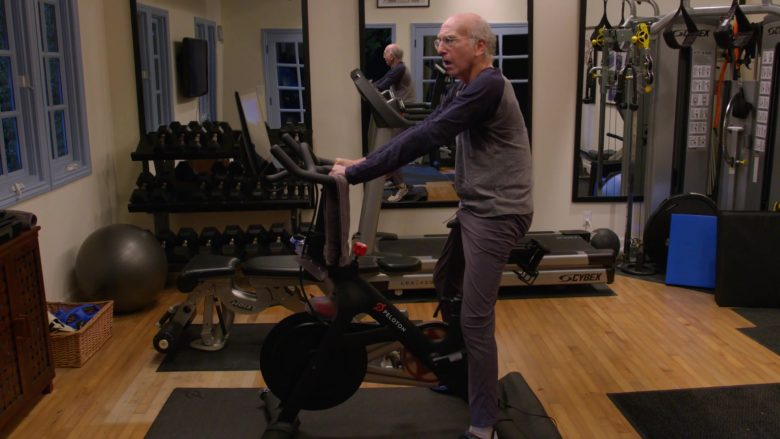 """Peloton Bike Used by Larry David in Curb Your Enthusiasm Season 10 Episode 1 """"Happy New Year"""" (2020) TV Show"""