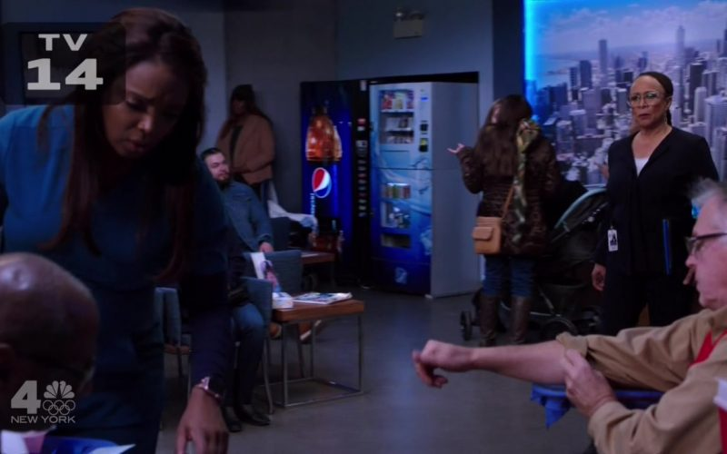 Pepsi Vending Machine in Chicago Med Season 5 Episode 12 Leave the Choice to Solomon (2020)