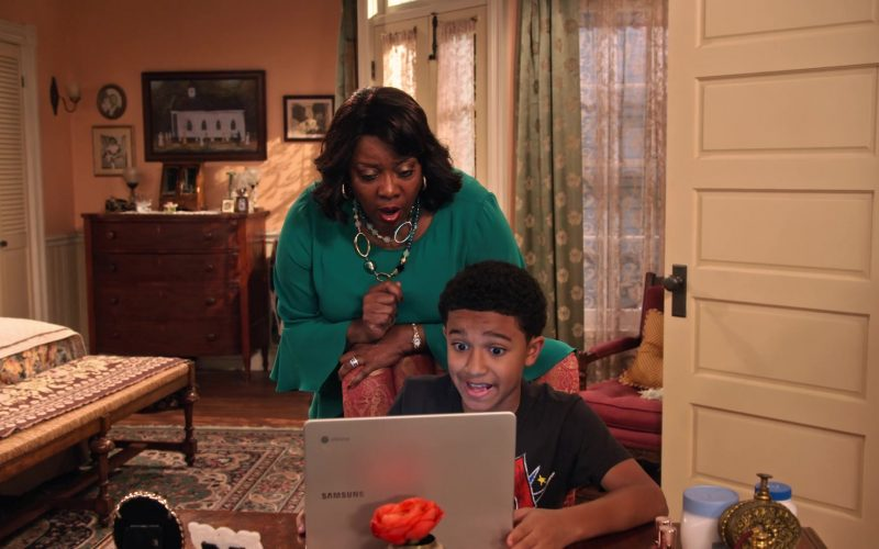 Samsung Chromebook Laptop Computer Used by Cameron J. Wright as Mazzi McKellan in Family Reunion Season 1 Episode 18 (3)