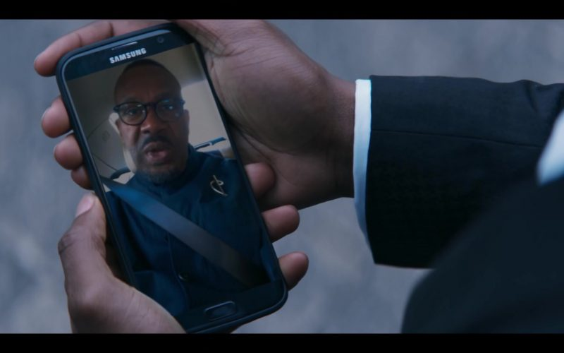 Samsung Galaxy Mobile Smartphone Used by Tosin Cole as Ryan Sinclair in Doctor Who Season 12 Episode 2 Spyfall, Part 2 (2)